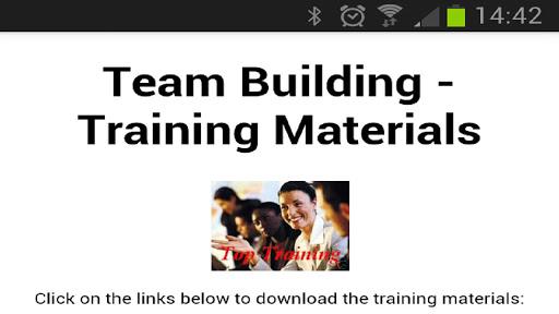 Team Building Materials