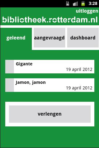 Mijn Bibliotheek Mobiel - screenshot