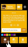Screenshot of GO SMS PRO WP8 Popup ThemeEX
