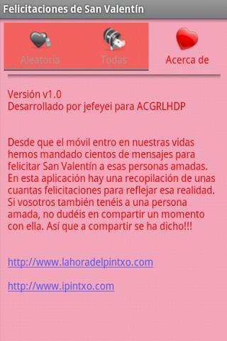 Felicitaciones de San Valentin - screenshot
