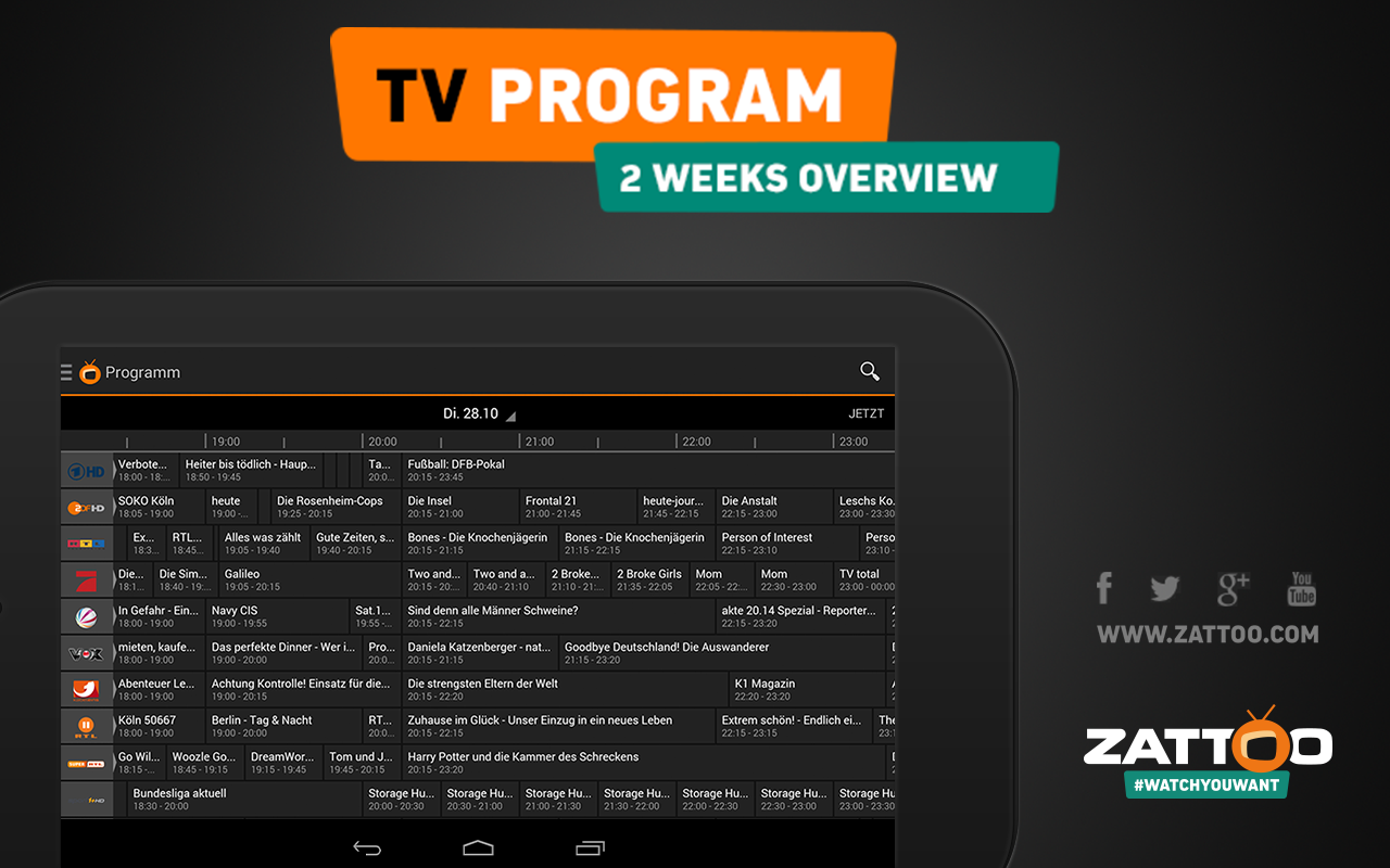 Zattoo TV App Live Television - screenshot