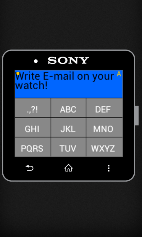 Email Writer for SmartWatch- screenshot