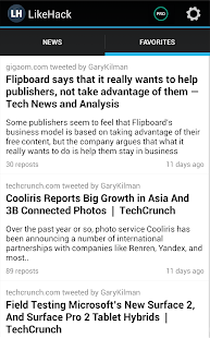LikeHack: personalized news - screenshot thumbnail