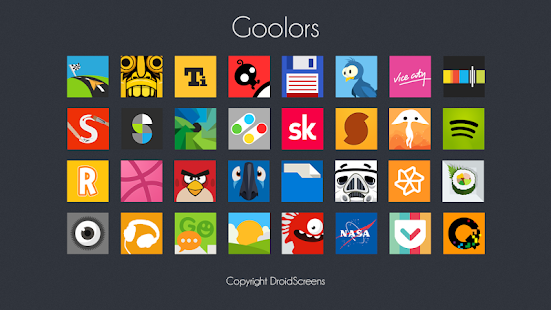 Goolors Square - icon pack - screenshot thumbnail