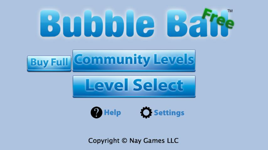 Bubble Ball Free - screenshot