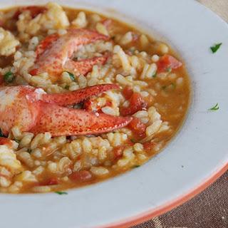 Creamy Lobster Risotto.