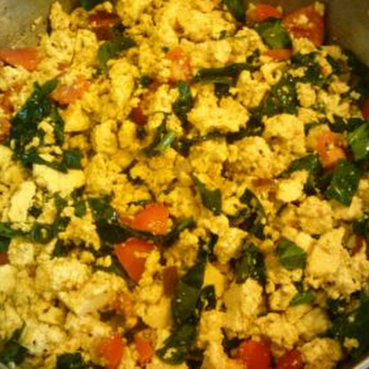 Vegan Tofu Scramble with Spinach