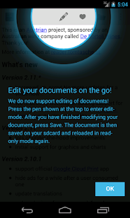 OpenDocument Reader – Vignette de la capture d'écran