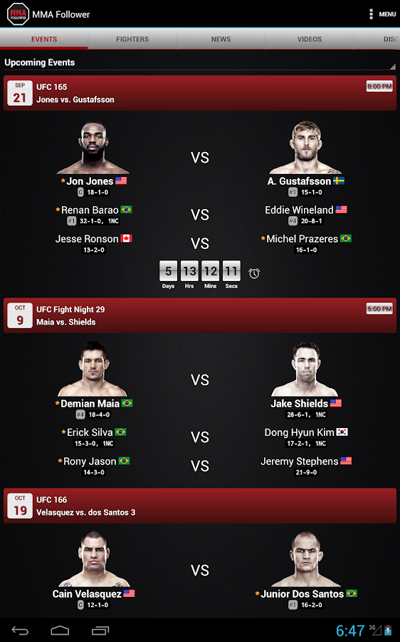 MMA Follower: All of MMA & UFC - screenshot