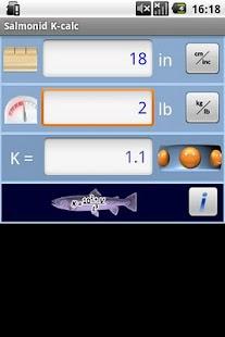 Salmonid Condition Calculator - screenshot thumbnail