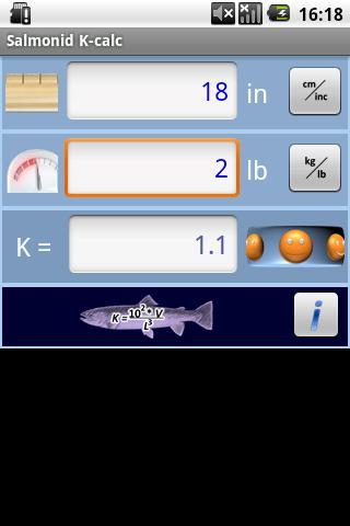 Salmonid Condition Calculator - screenshot