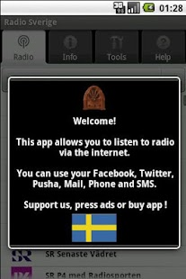Radio Sverige (gratisapp) - screenshot thumbnail