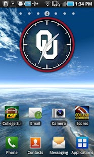 Oklahoma Sooners Clock Widget - screenshot thumbnail