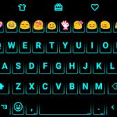 Neon Cyan - Emoji Keyboard