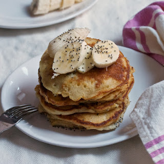 Peanut Butter Pancakes with Bananas & Chia