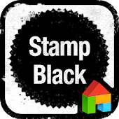 Stamp black dodol theme