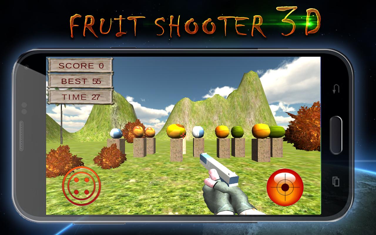 Fruit shooter games - Fruit Shooter 3d Screenshot