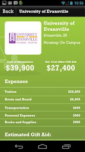 Indiana College Cost Estimator - screenshot thumbnail