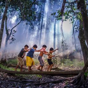 When The Children Play.. by Hendrik Priyanto - Babies & Children Child Portraits ( play, human interest, children )