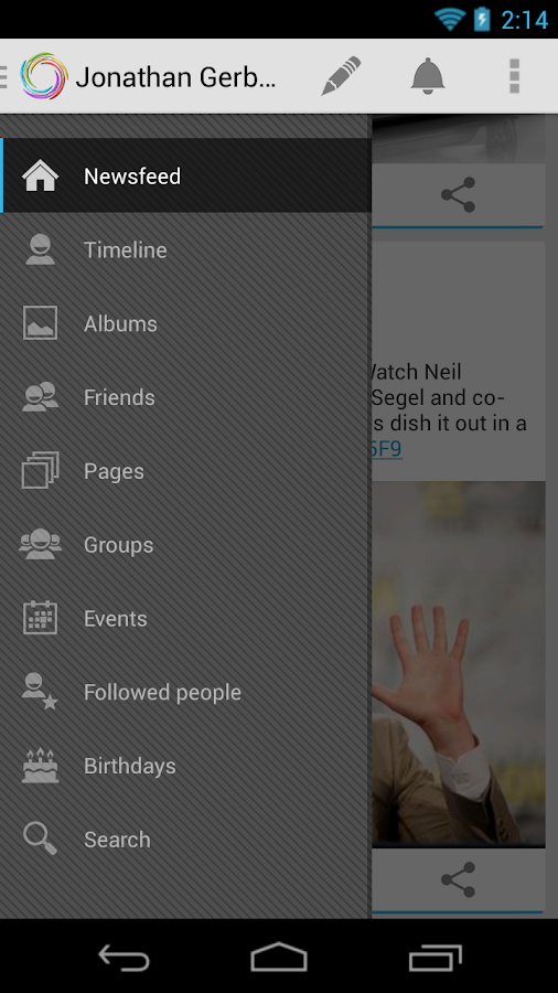 Klyph for Facebook Old devices - screenshot