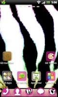 Screenshot of GO Launcher EX Pink Zebra