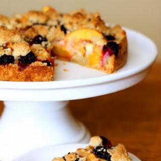 Peach Blackberry Crumble Tart.