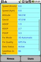Screenshot of GPS Nmea Monitor
