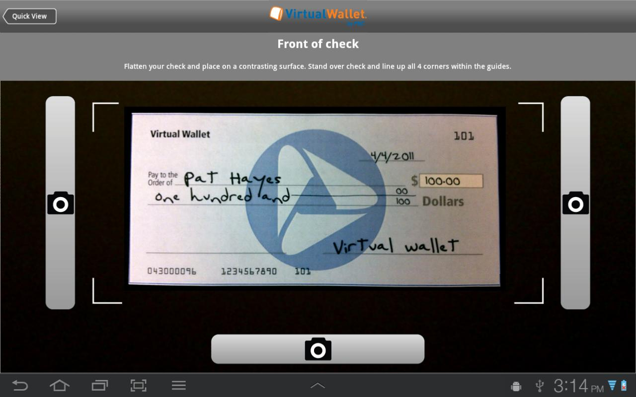 Virtual Wallet tablet by PNC - screenshot