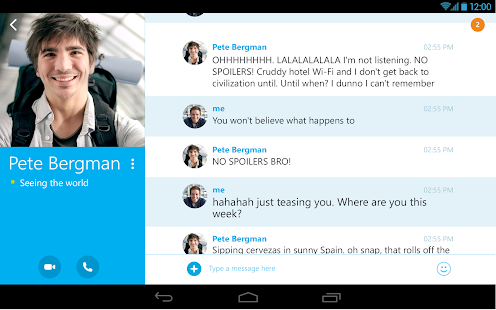 Skype - free IM & video calls Screenshot 21