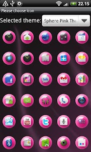 Sphere Pink GO Launcher Theme - screenshot thumbnail