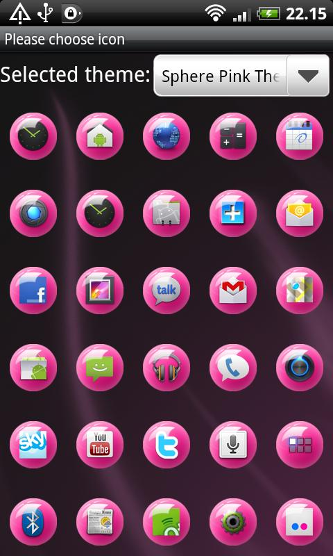 Sphere Pink GO Launcher Theme - screenshot