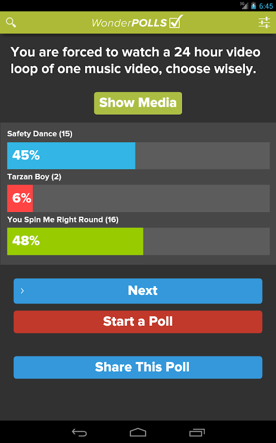 Wonder Polls: Free Version - screenshot