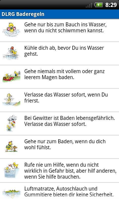 DLRG Baderegeln- screenshot