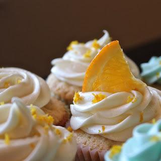 Homemade Blue Moon Cupcakes.