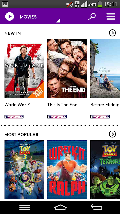 how to get free sky channels on android