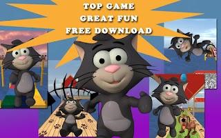 Screenshot of Tiny Cat Run: Running Game Fun