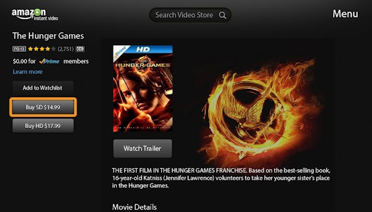 Amazon Instant Video-Google TV - screenshot thumbnail