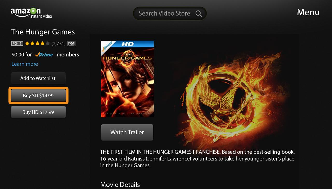 Amazon Instant Video-Google TV - screenshot