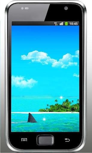 Sharks Beach live wallpaper