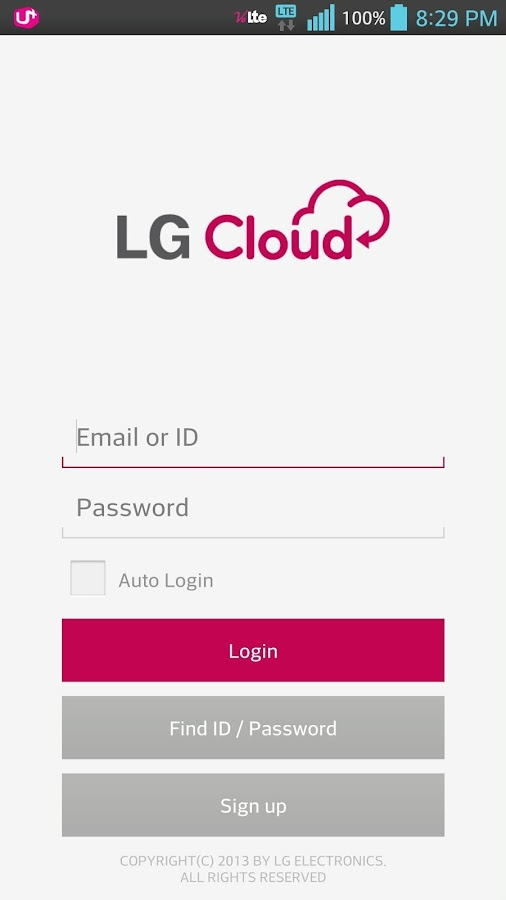 LG Cloud - screenshot