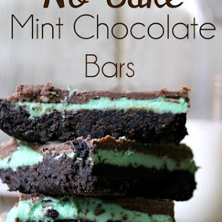 No Bake Mint Chocolate Bars.