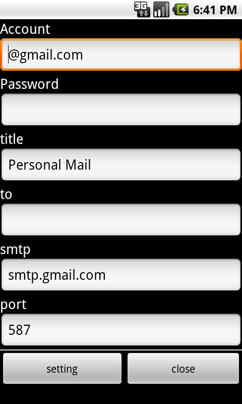 PerMail - screenshot