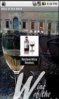 Screenshot of Wine of the Week