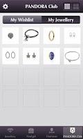 Screenshot of Pandora Jewelry
