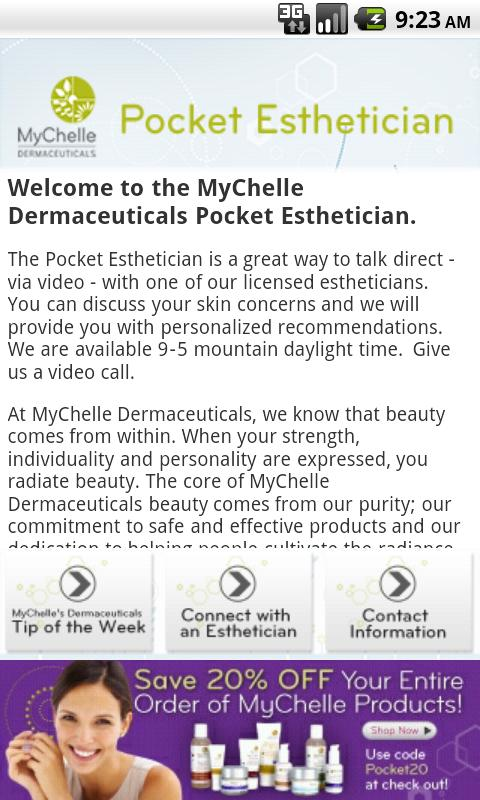 MyChelle's Pocket Esthetician - screenshot