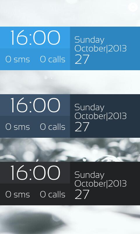 Pure Flat Clock for UCCW - screenshot
