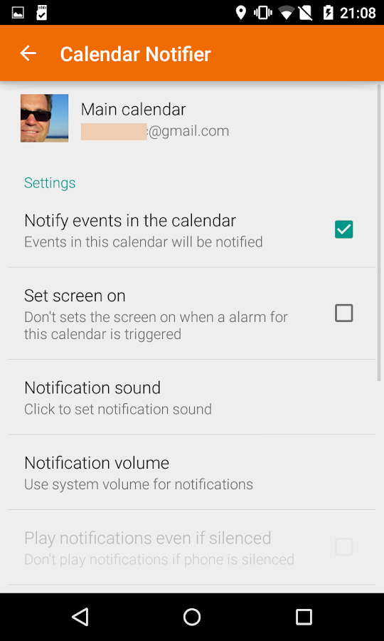 Events Notifier for Calendar- screenshot