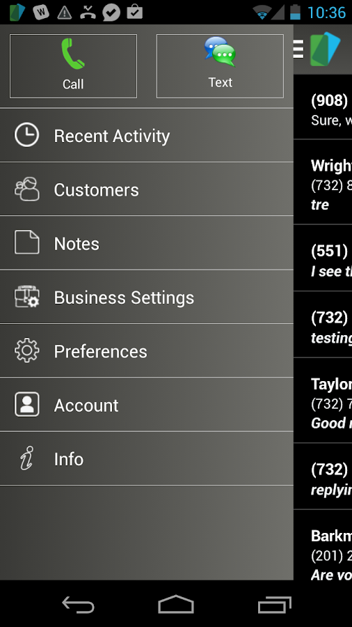 BusinessCall Texting & Calling- screenshot