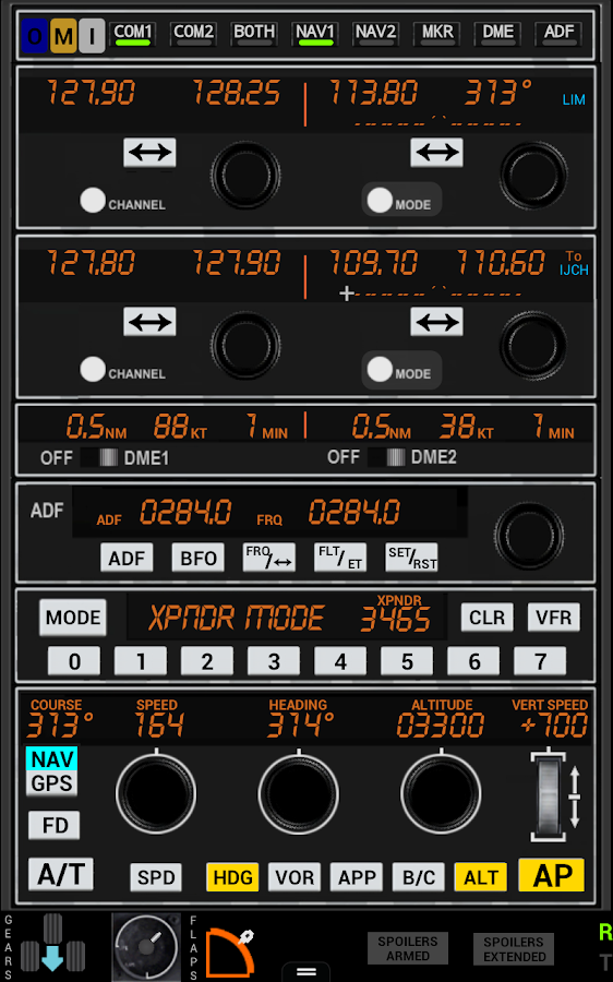 PW372 Radio Stack FSX P3D FS9 - Android ...