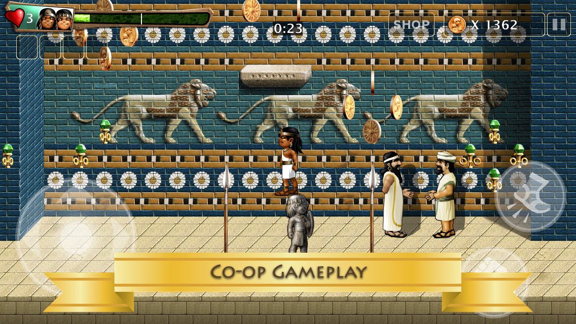Babylonian Twins Platform Game - screenshot